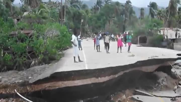 Dañso en Haití por el terremoto.