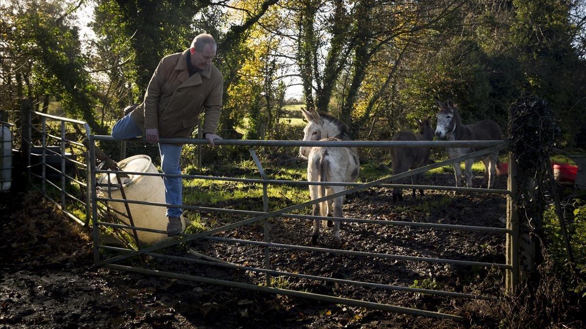 David Crockett, elgranjero irlandés quecruza la frontera varias veces al día.