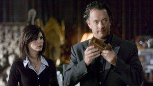 Audrey Tautou y Tom Hanks, en una escena de 'El código Da Vinci'.