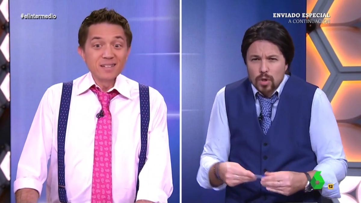Errejón e Iglesias, en 'El intermedio'.