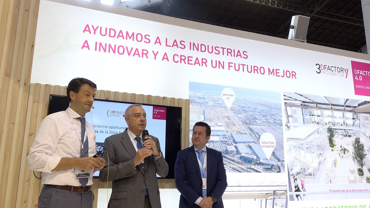 El delegado especial del Estado en el Consorci de la Zona Franca de Barcelona (CZFB), Pere Navarro, en la presentación del proyecto en la Barcelona Industry Week.