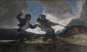 'Duelo de garrotes', cuadro de Francisco de Goya expuesto en el Museo del Prado.