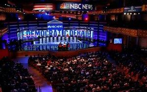 Debate de los aspirantes a la candidatura presidenciala del partido demócrata.