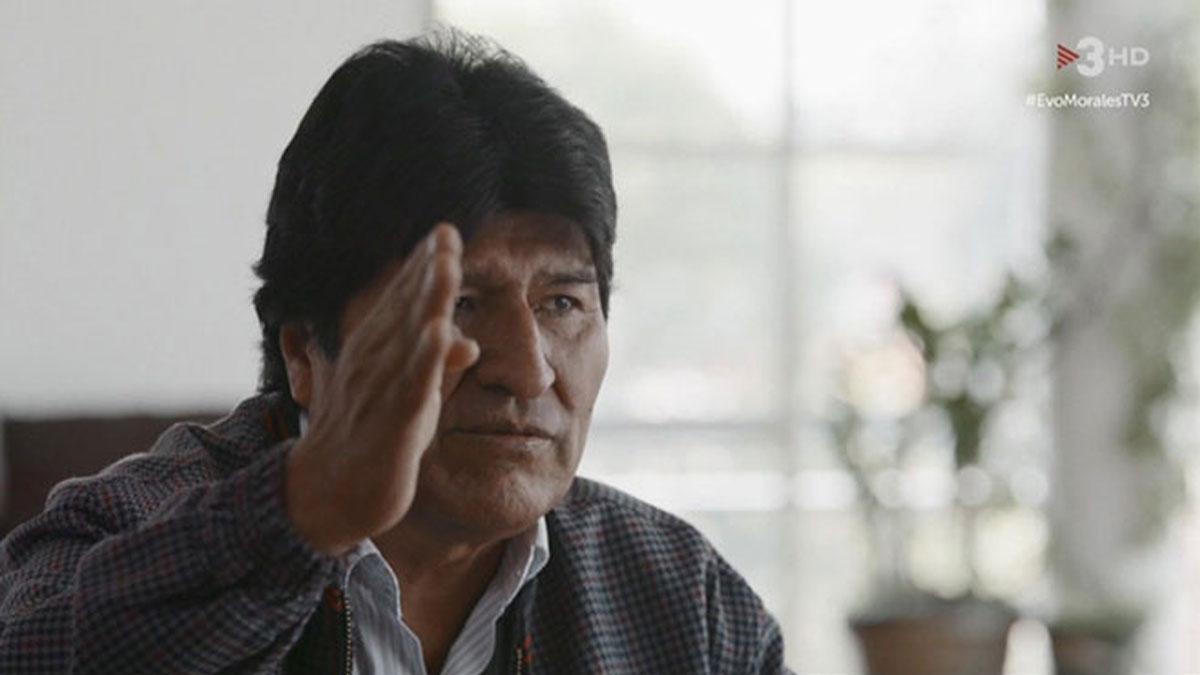 Evo Morales, en México con Ustrell (TV-3).