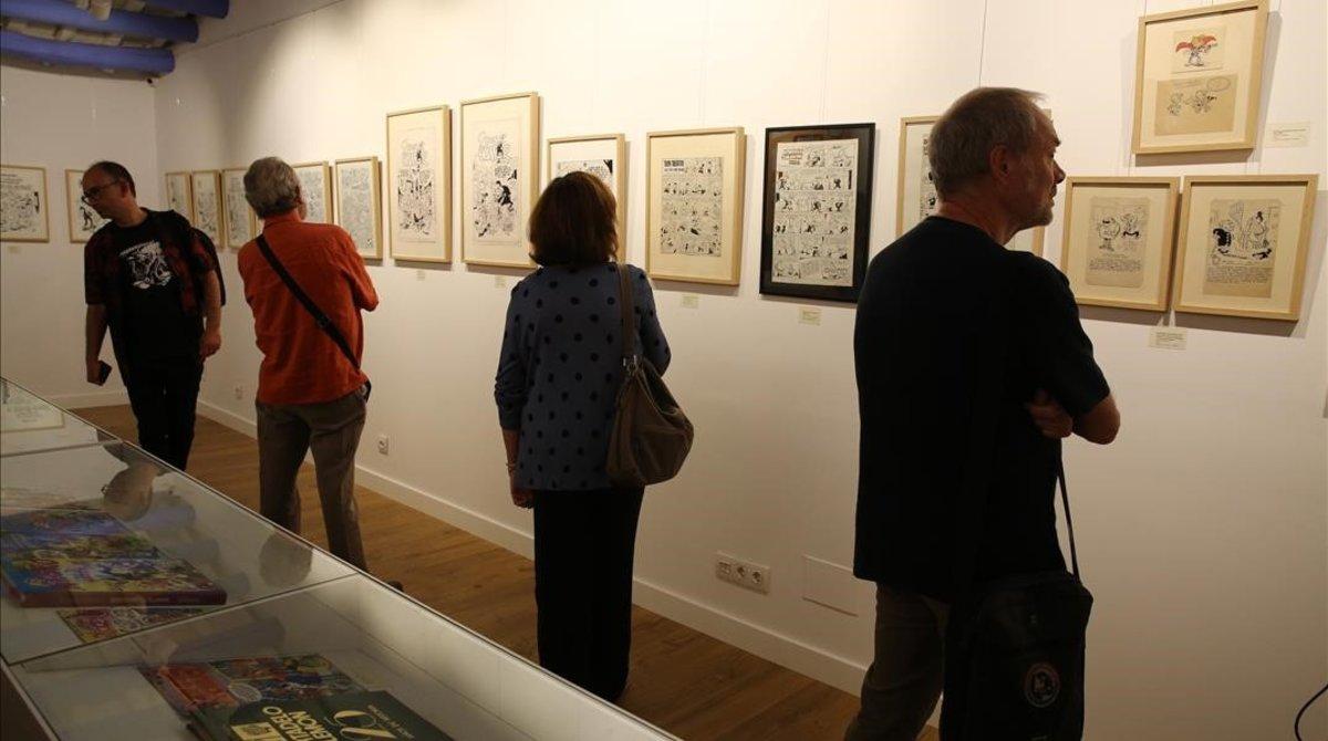 Exposición sobre cómics de Francisco Ibáñez en Sant Cugat.