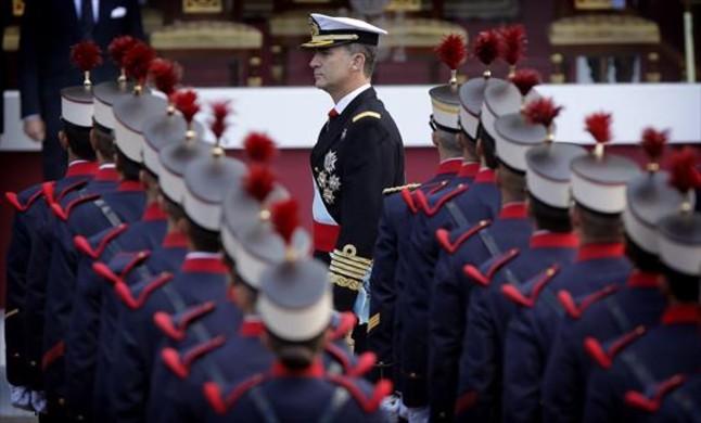 Felipe VI, en un desfile militar del 12 de octubre en Madrid.