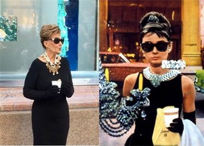 María Teresa Campos conquista Nova York disfressada d'Audrey Hepburn