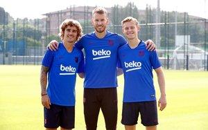 Griezmann, Neto y De Jong, los tres fichajes del Barça 19-20.