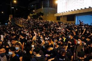 Protestas masivas en Hong Kong.