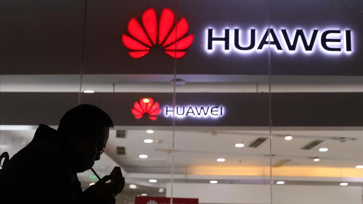 Una tienda de Huawei en Pekín.