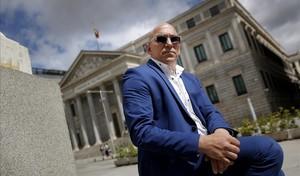 Manuel Barbero, el padre de una víctima del agresor confeso Joaquim Benítez que destapó los abusos, en Madrid.