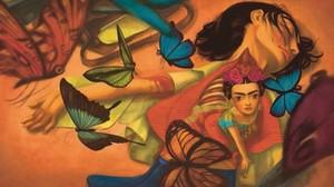 Ilustración de Frida, el nuevo libro ilustrado de Benjamin Lacombe y Sébastien Perez.