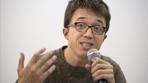 Íñigo Errejón, en una rueda de prensa en Madrid.