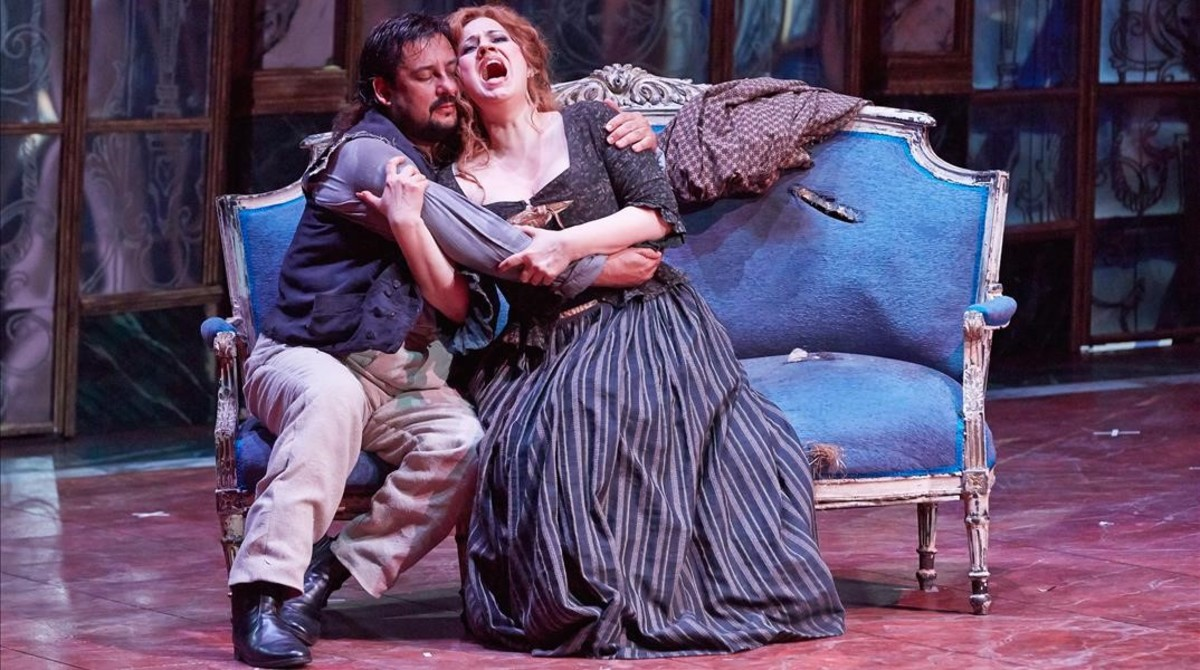 Representación de la ópera Andrea Chénier, deUmberto Giordano
