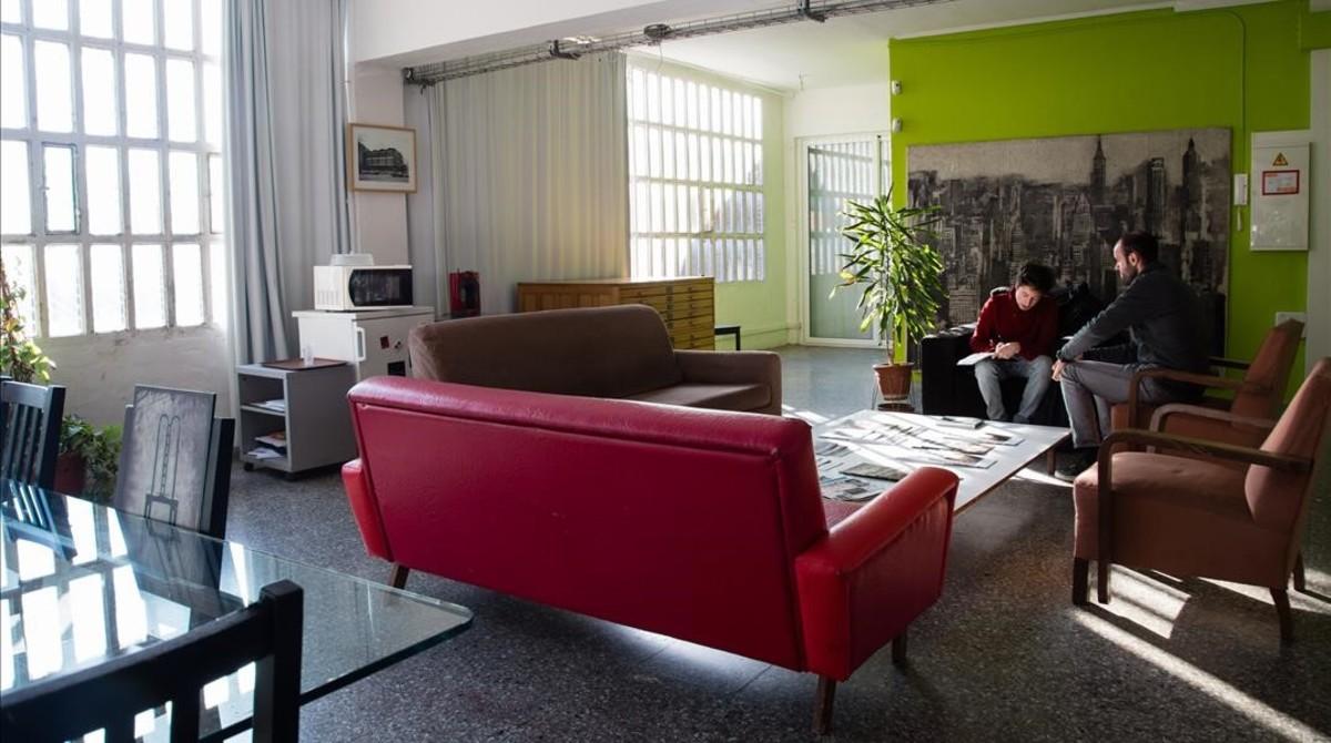 Interior de la Nau Ivanow, en el barrio de La Sagrera