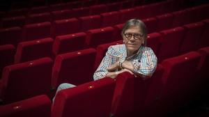 Josep Maria Flotats, en la platea del Teatre Borràs, en junio del 2017.