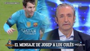 Josep Pedrerol en el especial sobre el burofax de Messi de 'El chiringuito de Jugones'.
