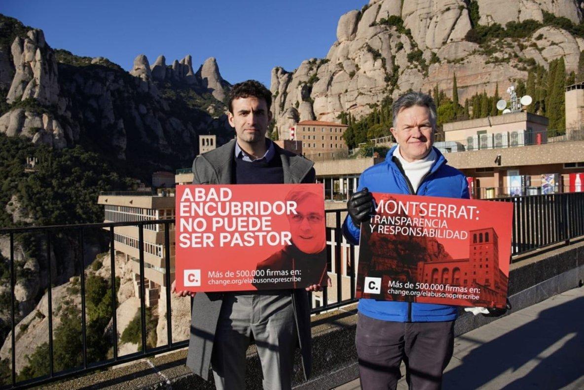 Juan Cuatrecasas y Peter Saunders, este domingo, en Montserrat.