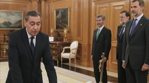 Juramento de Julián Sánchez Melgar como fiscal general del Estado.