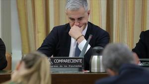El exsecretario general del PP valenciano Ricardo Costa, en su comparecencia en la comisión de investigación sobre la presunta financiación irregular de los conservadores en el Congreso.