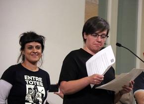 Las exdiputadas de la CUP en el Parlament Anna Gabriel y Mireia Boya, el pasado 10 de octubre.