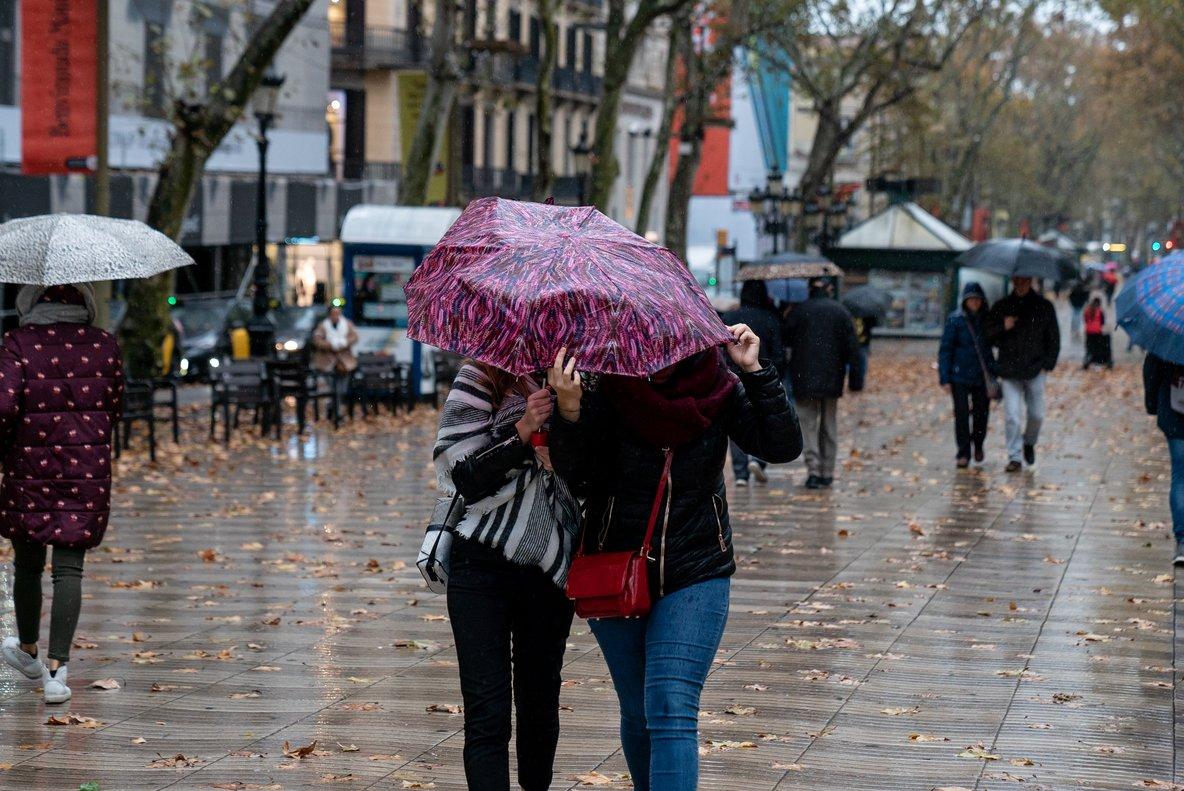 Imagen de lluvias en Barcelona.