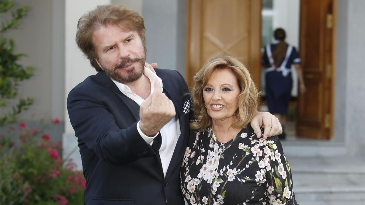 María Teresa Campos y Edmundo Arrocef, en el 2016.