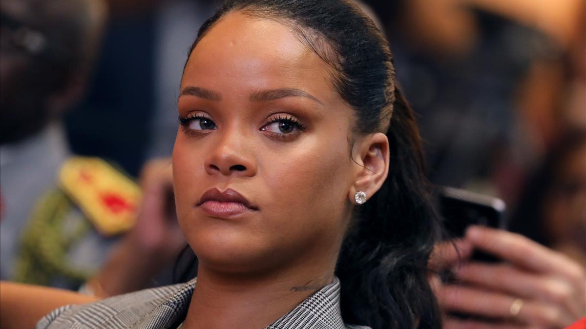La cantante Rihanna, el pasado febrero.