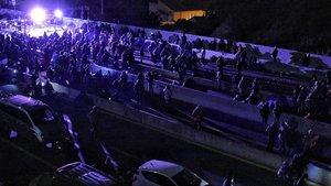 Los manifestantes de la frontera.