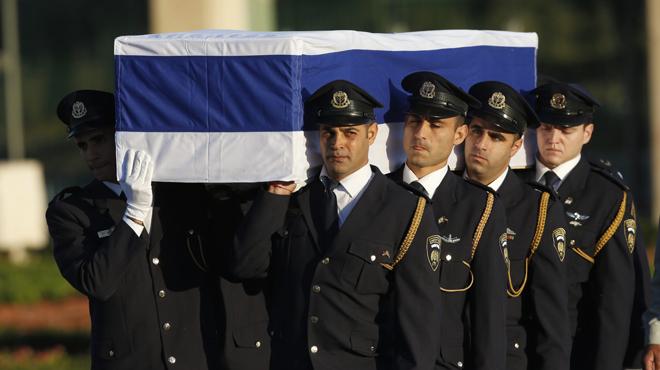 Los restos de Shimon Peres llegan al Parlamento de Israel.