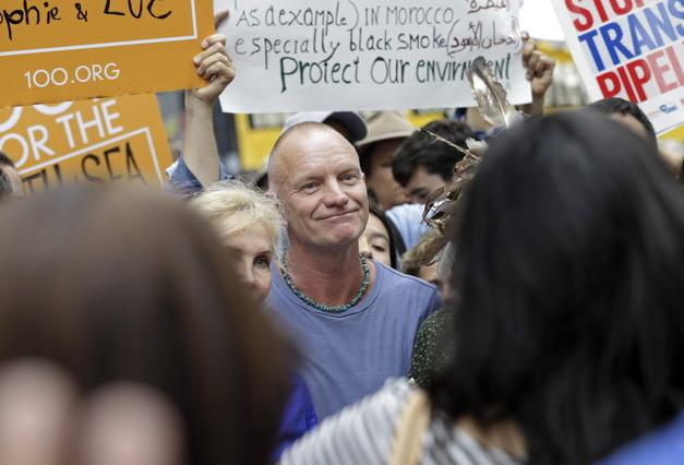 Sting, en la marcha de Nueva York.
