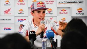 Marc Márquez (Honda) ha atendido hoy, en Austin, a la prensa mundial antes del GP de EEUU