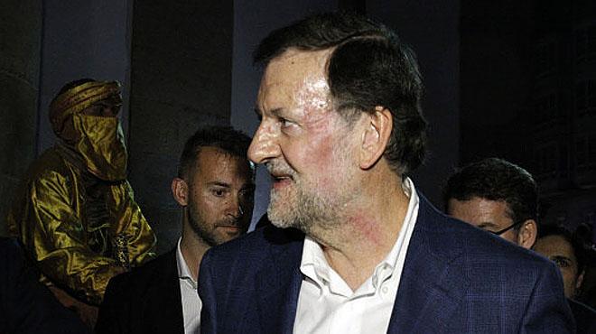 Agresión al presidente del Gobierno, Mariano Rajoy, en una calle de Pontevedra.