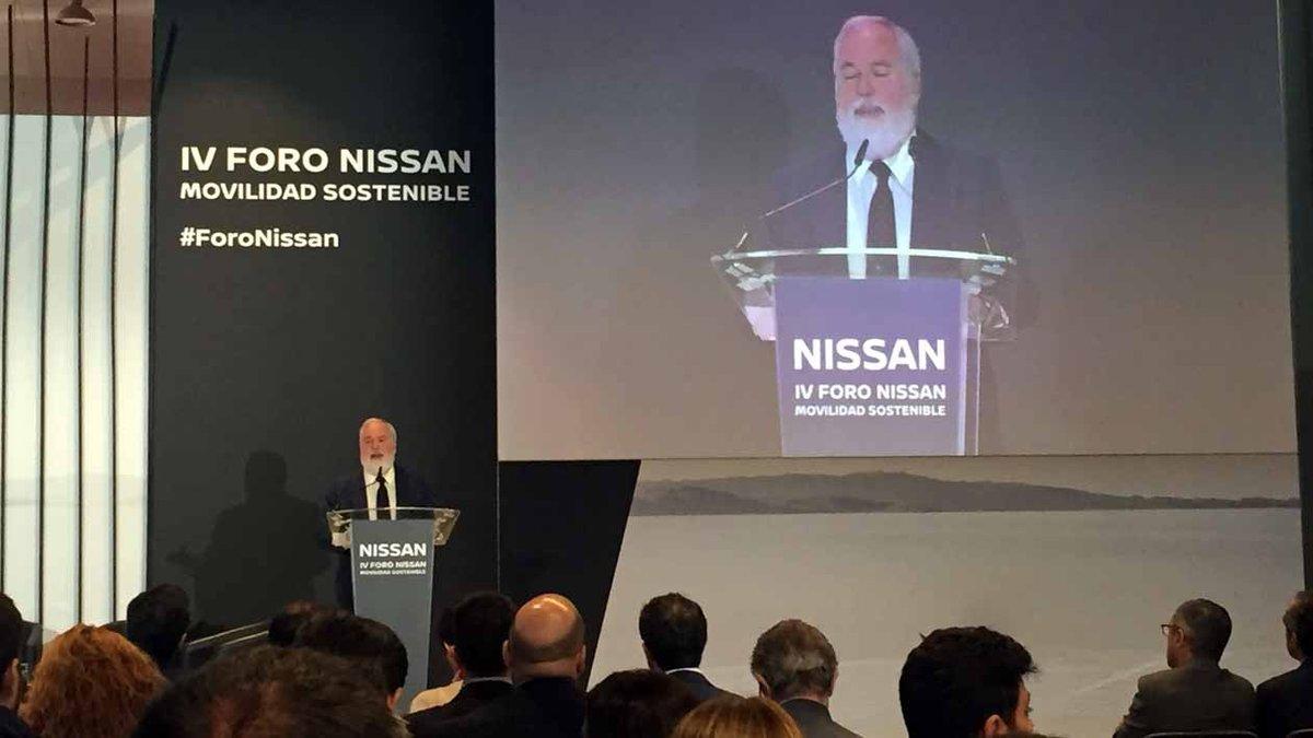 MIguel Arias Cañete, en el Foro Nissan de Movilidad Sostenible.