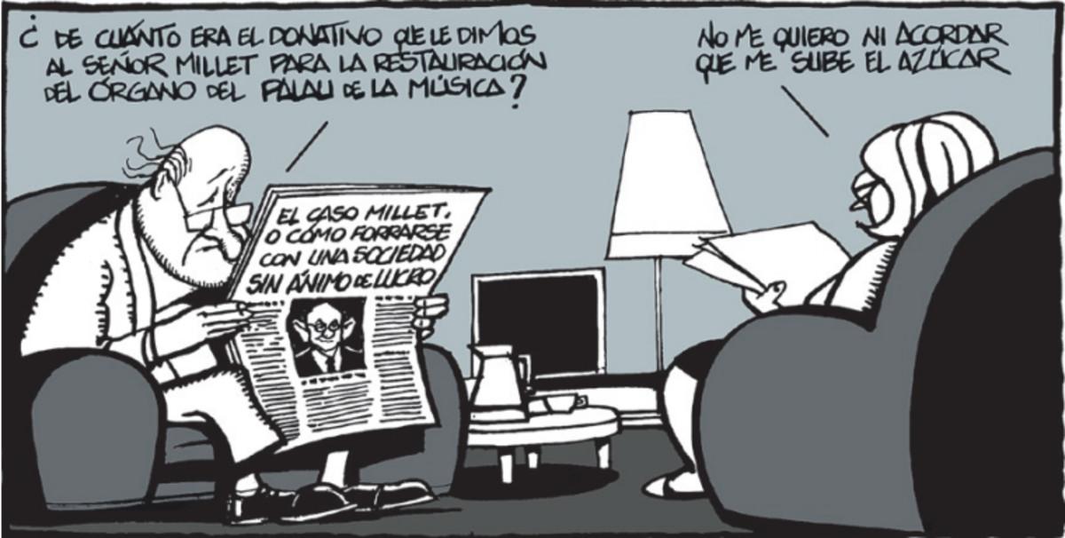 Viñeta de Ferreres sobre el caso Palau del 24 de septiembre del 2009.