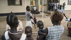 Mujeres africanas, con sus bebés.