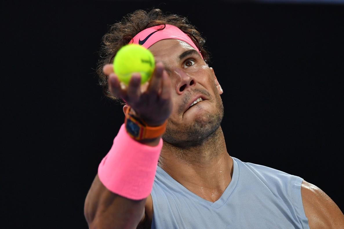 Rafael Nadal, en el Abierto de Australia 2018.
