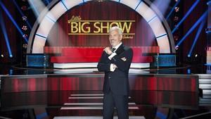 Carlos Sobera, en el plató del nuevo programa de Tele 5 'Little big show'.