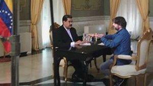 Nicolás Maduro y Jordi Évole, durante la entrevista que ofrece Salvados (La Sexta).
