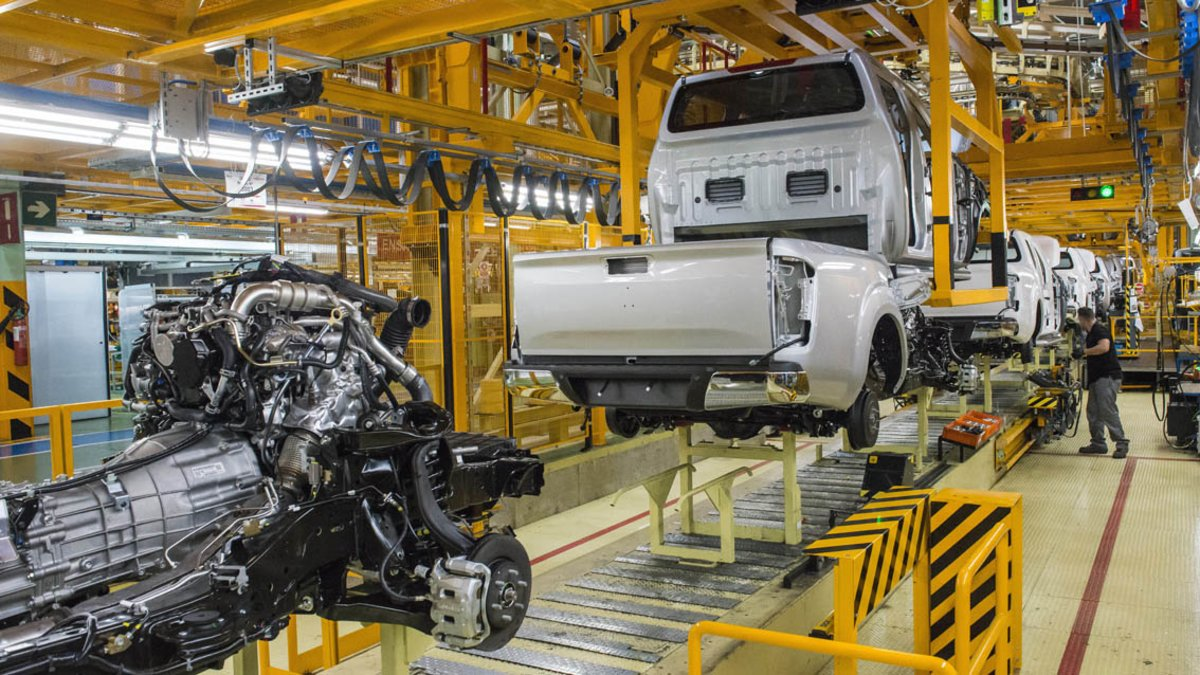 Producción de pick-ups en Nissan Zona Franca.