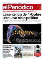 La portada de EL PERIÓDICO del 14 de octubre del 2019.
