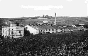 Postal de la antigua industria textil La Linera.