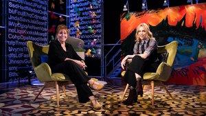 Mercedes Sampietro con Tània Sarrias, en el programa de estreno de 'Punts de vista' (La 2).