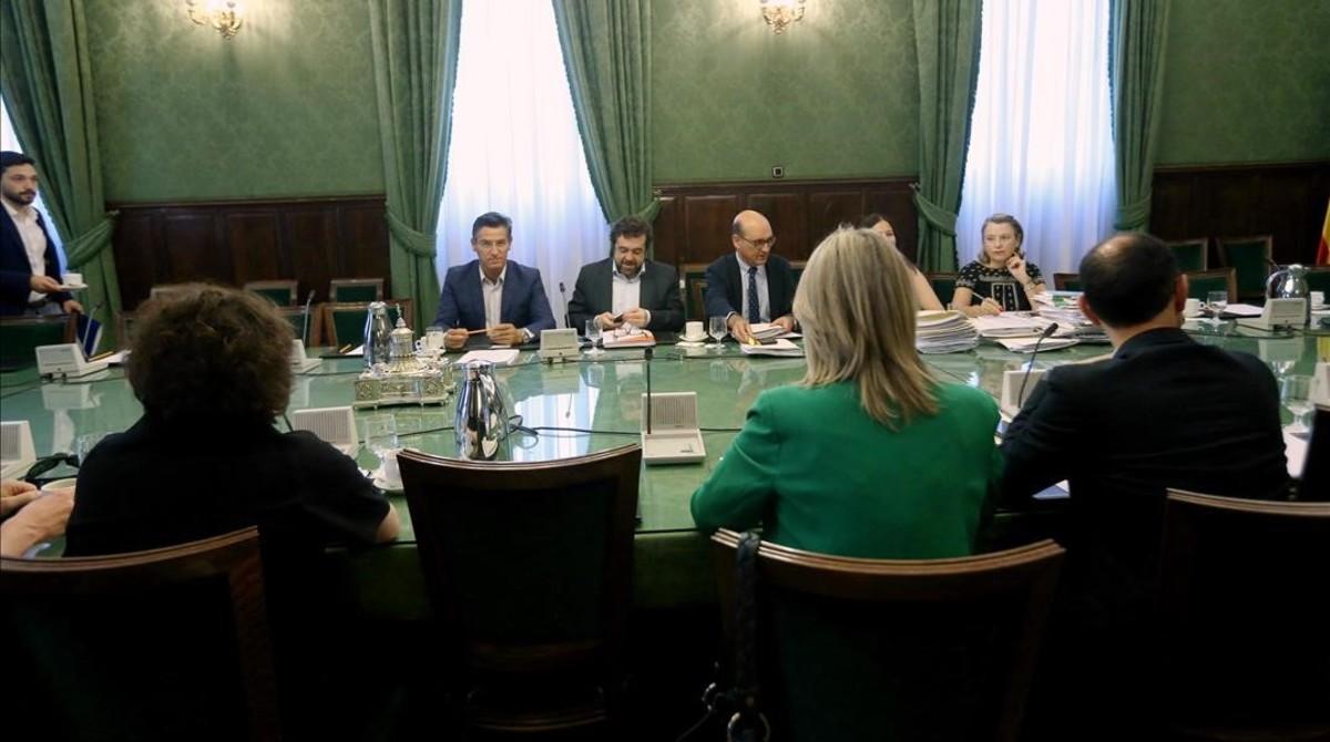 Reunión de la comisión de investigación de la operación Cataluña.