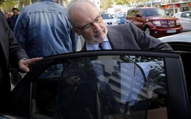 Rodrigo Rato, a la salida del juzgado madrileño, el 6 de octubre.
