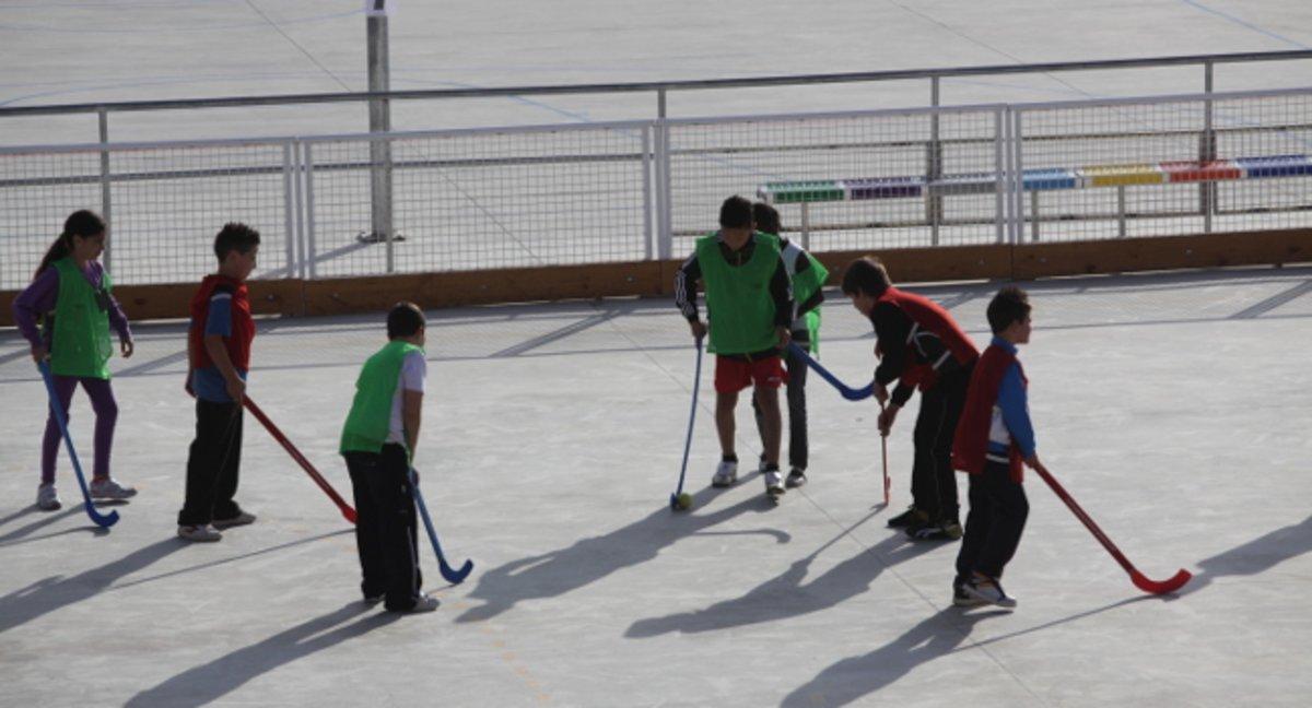 Niños haciendo deporte en Sabadell