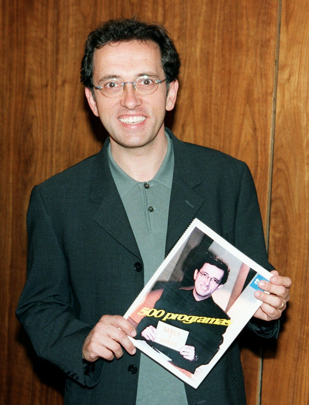 Jordi Hurtado, en la presentación de los 500 primeros programas de 'Saber y ganar', en 1999.