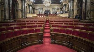 Salón de sesiones del Parlament de Catalunya.