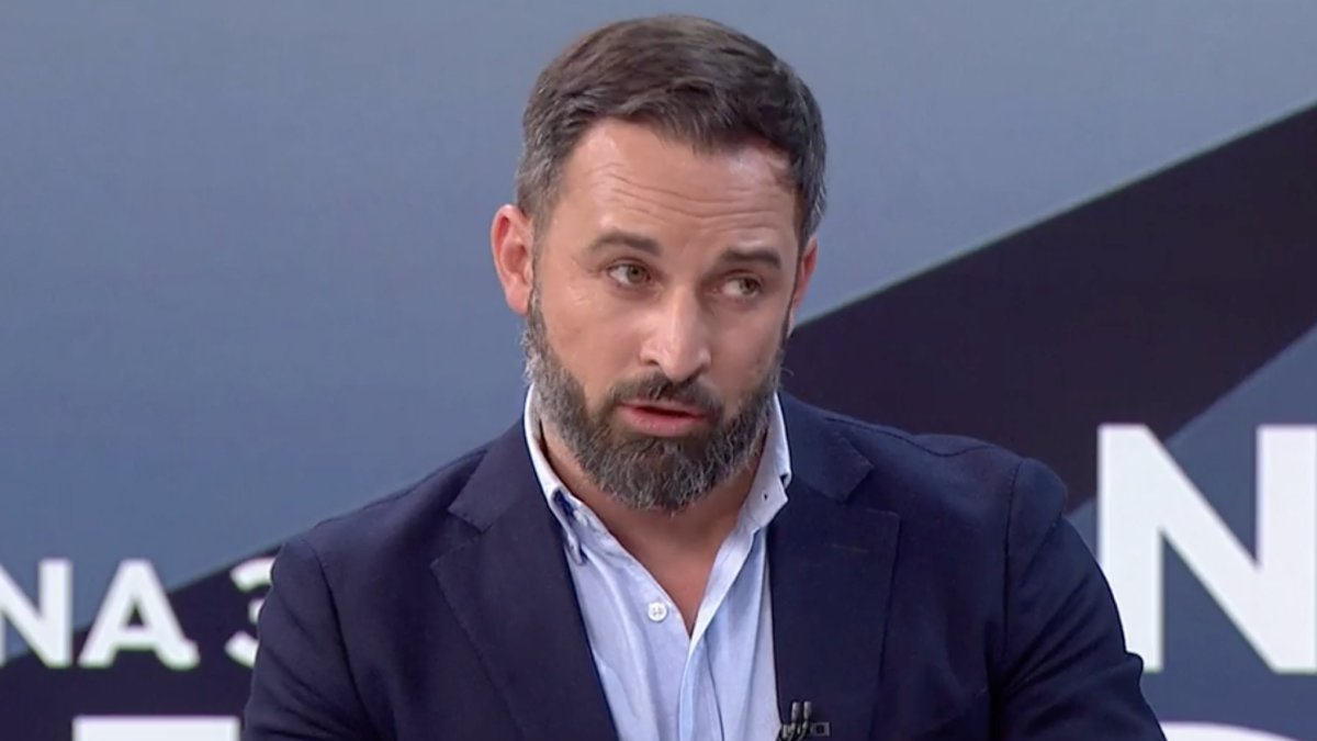 Santiago Abascal en Antena 3 Noticias.