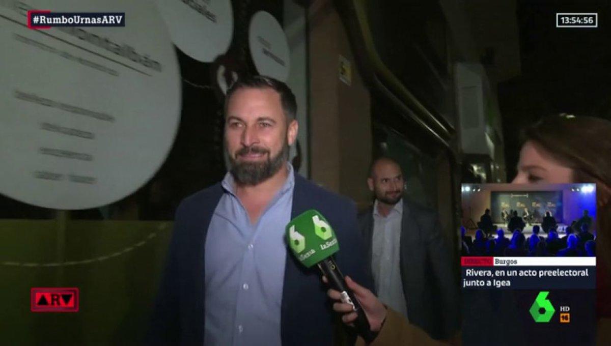 Santiago Abascal, el líder de Vox al que han de perseguir los medios